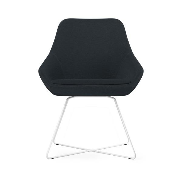 Calyx Loungesessel grau/schwarz, Bezug Step